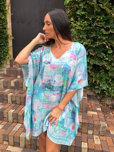 Claire Powell Beach Cover-Up Kaftan Dress Plus Size Top Design Butterfly Main