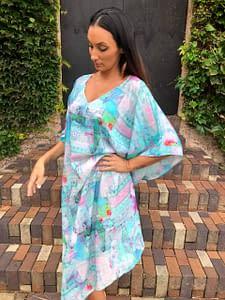 Claire Powell Women's Kaftan Long Dress | Design Butterfly Front