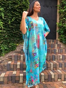 Claire Powell Women's Kaftan Long Dress | Design Paradise stand